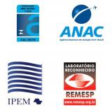 calibração acreditada certificado rbc