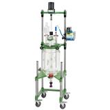 reator de vidro laboratório